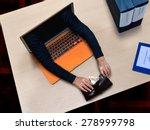 hacker cyber criminal stealing...   Shutterstock . vector #278999798