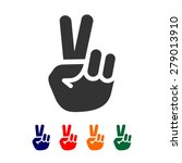 vector peace sign   hand... | Shutterstock .eps vector #279013910