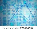 display of stock exchange graph ...   Shutterstock . vector #279014534
