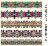 seamless ethnic floral paisley... | Shutterstock . vector #279018368