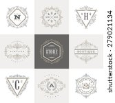 monogram logo template with... | Shutterstock .eps vector #279021134