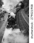 Steam Train Entering The...