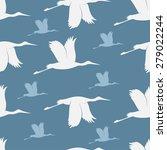 baby shower storks seamless... | Shutterstock .eps vector #279022244