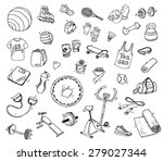 hand drawn vector illustration... | Shutterstock .eps vector #279027344