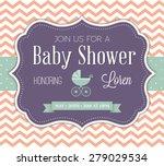 baby shower invitation | Shutterstock .eps vector #279029534