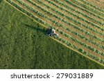 Aerial View Of Harvest Fields...
