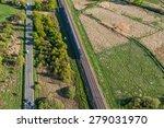 aerial view of railway  in... | Shutterstock . vector #279031970