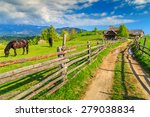 Alpine Rural Landscape With...