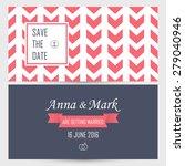 wedding invitation. vector... | Shutterstock .eps vector #279040946