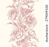 vertical floral seamless... | Shutterstock .eps vector #279049100
