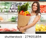 Smiling Woman Shopping In A...