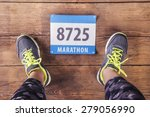 unrecognizable young runner.... | Shutterstock . vector #279056990