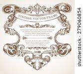 vector vintage border frame... | Shutterstock .eps vector #279060854