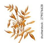 tree growing golden symbol for... | Shutterstock . vector #279076628