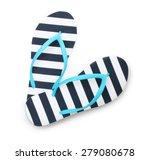 blue flip flop beach shoes top... | Shutterstock . vector #279080678