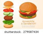 collect  assemble  hamburger ... | Shutterstock .eps vector #279087434