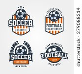 vector set of soccer football... | Shutterstock .eps vector #279088214