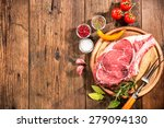 raw fresh meat rib eye eteak... | Shutterstock . vector #279094130