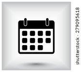 calendar sign icon  vector... | Shutterstock .eps vector #279095618