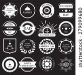 Vector Set Vintage Fathers Day...