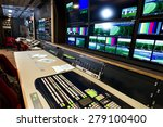 remote control in a television... | Shutterstock . vector #279100400