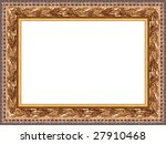 a picture frame on a white | Shutterstock . vector #27910468