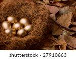 Seven Golden Eggs In Nest...