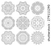 circle lace ornament  round... | Shutterstock . vector #279111290