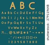 retro decoration font. vector ... | Shutterstock .eps vector #279119648