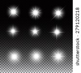 set of glowing light stars with ... | Shutterstock .eps vector #279120218