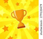 vector winner cup bright yellow ... | Shutterstock .eps vector #279120479