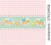 retro baby art sweet kid pink... | Shutterstock .eps vector #279124928