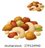 nuts isolated on white... | Shutterstock .eps vector #279124940