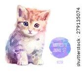 Vector Set Of Animals. Cat Han...