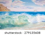 Seascape Big Wave From Italian...