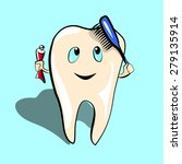 illustration of a tooth with... | Shutterstock .eps vector #279135914