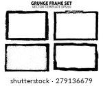 grunge frame texture set  ... | Shutterstock .eps vector #279136679