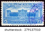 guatemala   circa 1944  a stamp ... | Shutterstock . vector #279137510