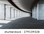 long corridor of a building... | Shutterstock . vector #279139328