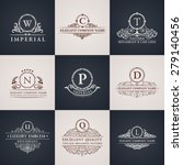 luxury logo set. calligraphic... | Shutterstock .eps vector #279140456