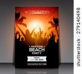 summer beach party flyer  ... | Shutterstock .eps vector #279140498