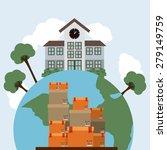 delivery design over sky... | Shutterstock .eps vector #279149759
