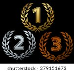 laurels for first three places | Shutterstock .eps vector #279151673