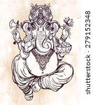 hindu elephant head god lord... | Shutterstock .eps vector #279152348