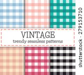 set of trendy vichy patterns  ... | Shutterstock .eps vector #279153710