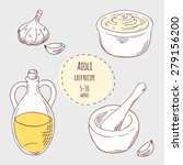 aioli sauce illustration in... | Shutterstock .eps vector #279156200