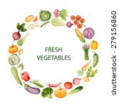 set of watercolor vegetables... | Shutterstock .eps vector #279156860