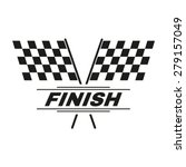 The Race Flag Icon. Finish...