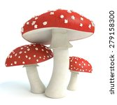 3d Illustration Of Amanita...