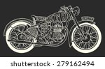 vintage motorcycle hand drawn... | Shutterstock .eps vector #279162494